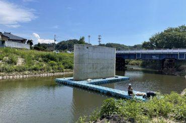 秋田県 橋脚工事用足場 ピアフロートレンタル