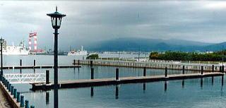 マリーナにデッキを張った浮桟橋として設置されたピアポンツーン